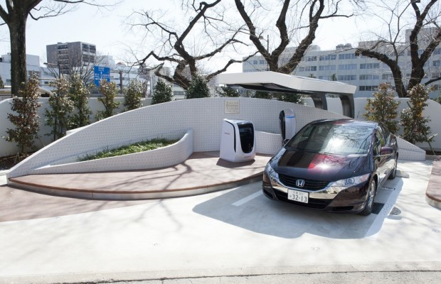 Honda eröffnet Solar-Wasserstoff-Tankstelle