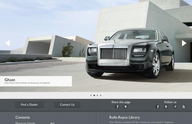 Neuer Internetauftritt von Rolls-Royce