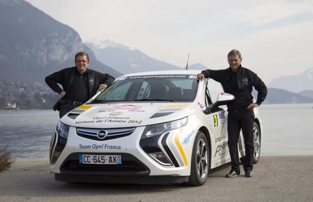 Opel Ampera siegt bei der Rallye Monte Carlo