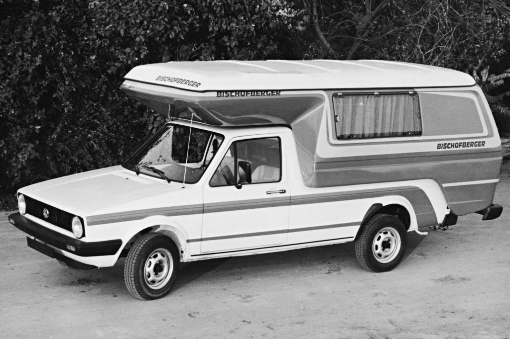 Selten: VW Caddy mit Campingbox