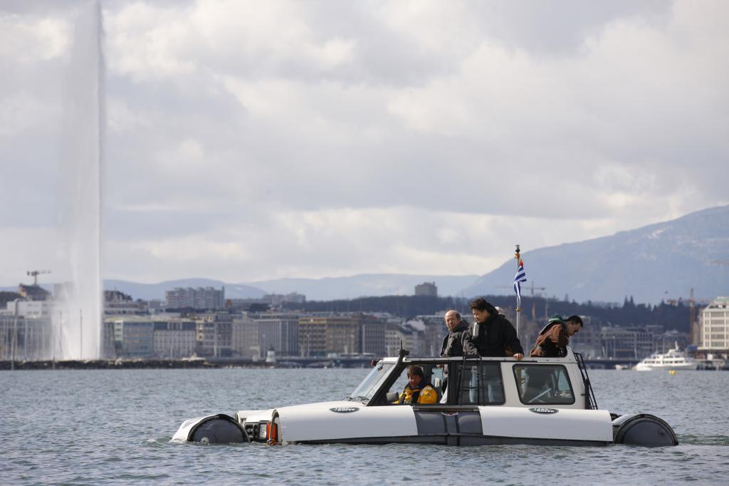 Von der Nordsee aus ging das Amphibien-Auto auf eine kleine Europatournee
