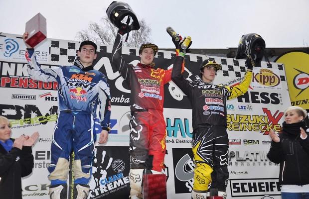 Winter-Motocross Frankenbach: Suzuki mit Kullas siegreich
