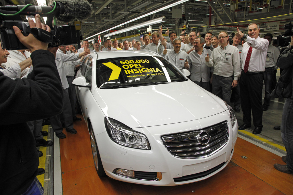 500 000 Opel Insignia aus Rüsselsheim