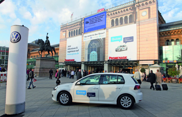 Auszeichnung für Quicar-Kampagne von VW