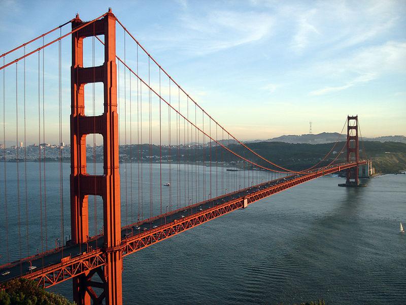 Die beliebtesten Urlaubsstrecken: Golden Gate Bridge - Quelle: Wikipedia