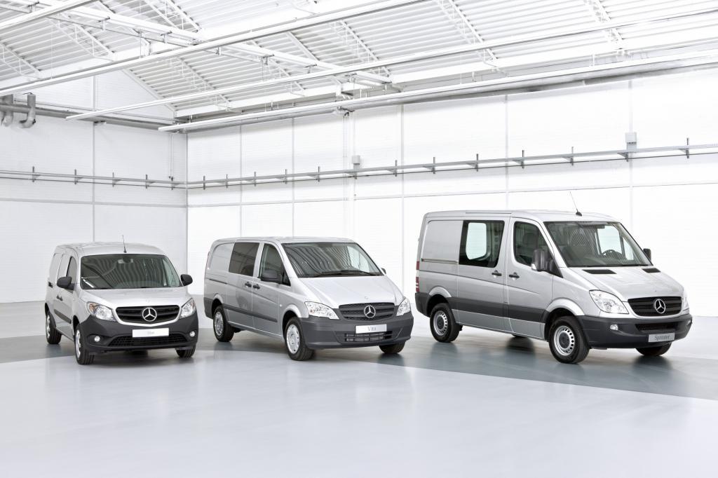 Die leichte Nutzfahrzeug-Familie von Mercedes
