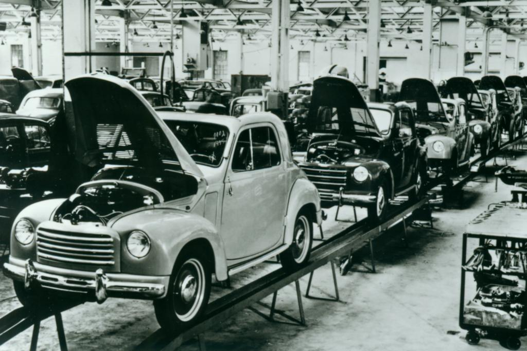 Fiat Werk Heilbronn Produktion Topolino 500C, 1953