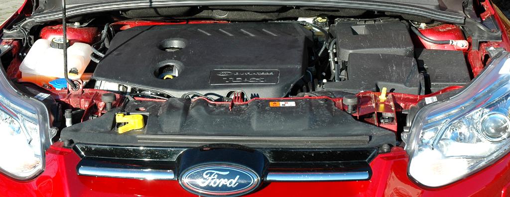 Ford Focus: Blick auf den 1,6-Liter-Selbstzünder.