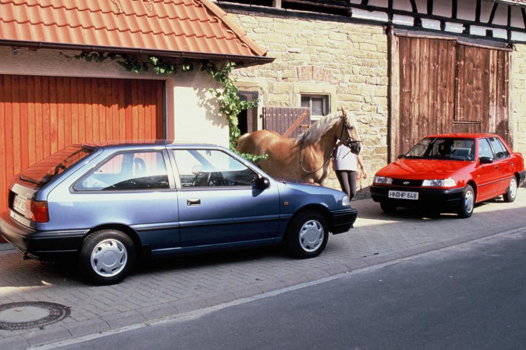 Hyundai Pony Dreitürer und Viertürer ab 1991