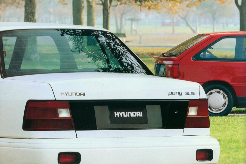Hyundai Pony Viertürer und Dreitürer ab 1989
