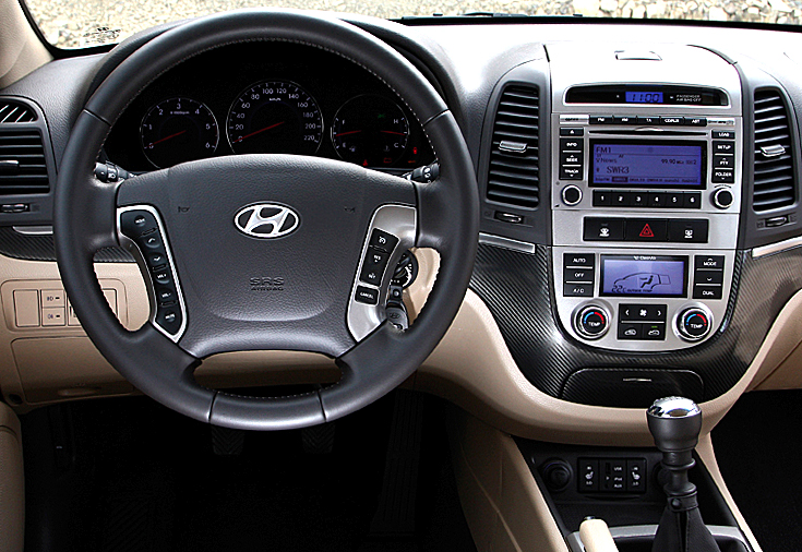 Hyundai Santa Fe: Blick ins Cockpit.