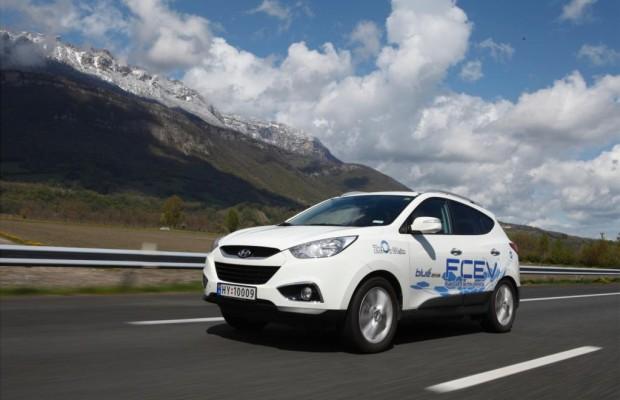 Rekordfahrt mit Brennstoffzellen-Auto