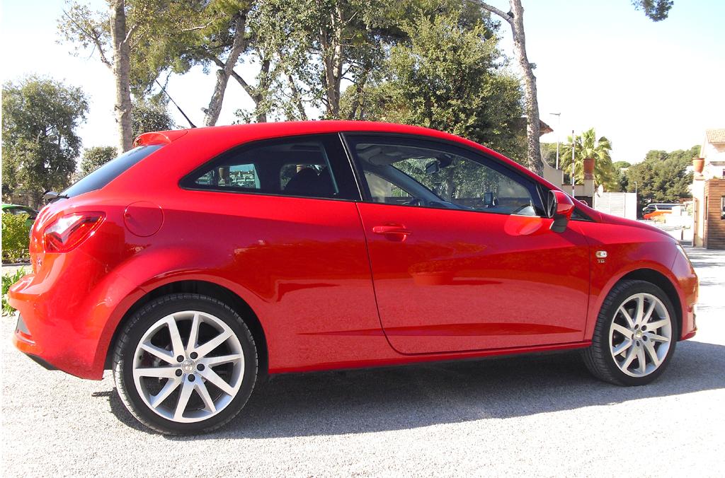 Seat Ibiza: So sieht der Dreitürer von der Seite aus.