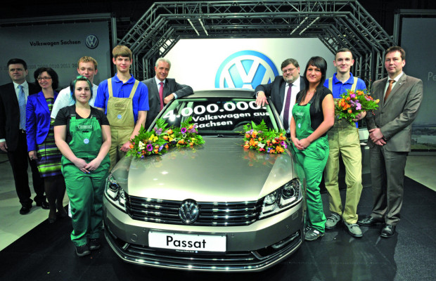 Vier Millionen Volkswagen aus Zwickau