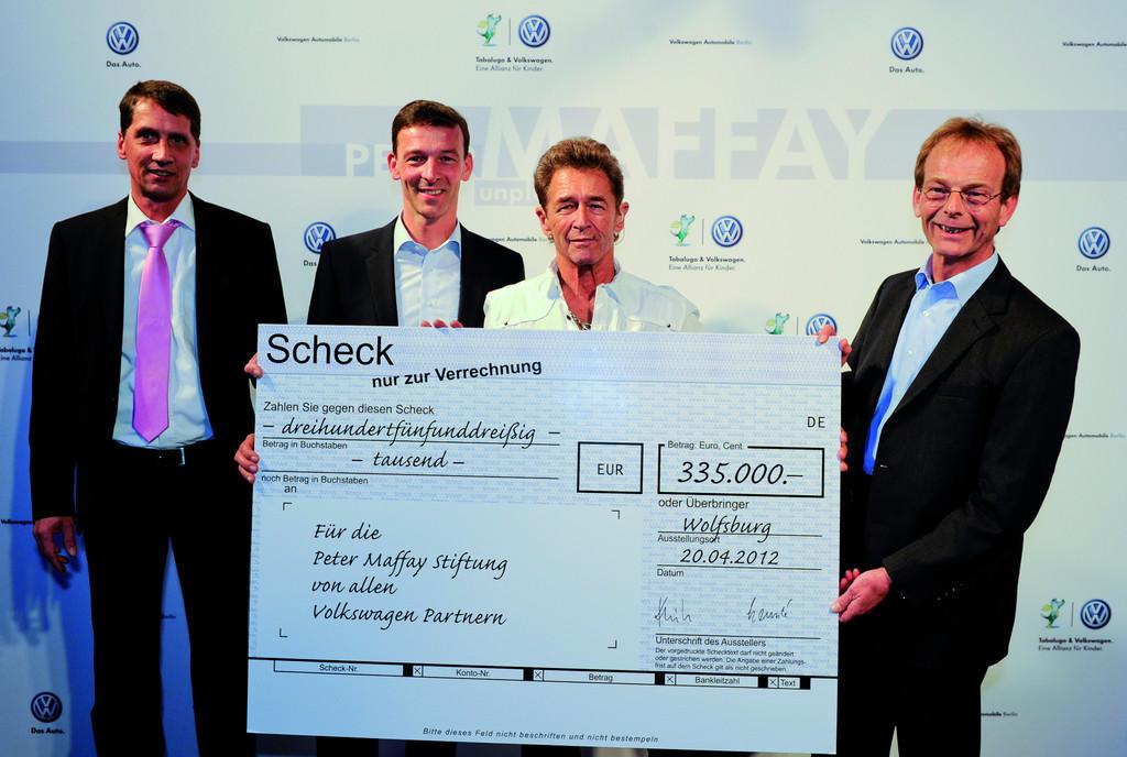 Volkswagen spendet 349.000 Euro an Peter-Maffay-Stiftung