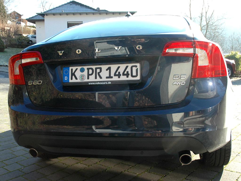 Volvo S60: Blick auf die Heckpartie.