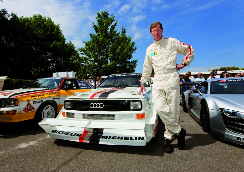Walter Röhrl erklimmt erneut im Audi Sport Quattro S1 den Pikes Peak