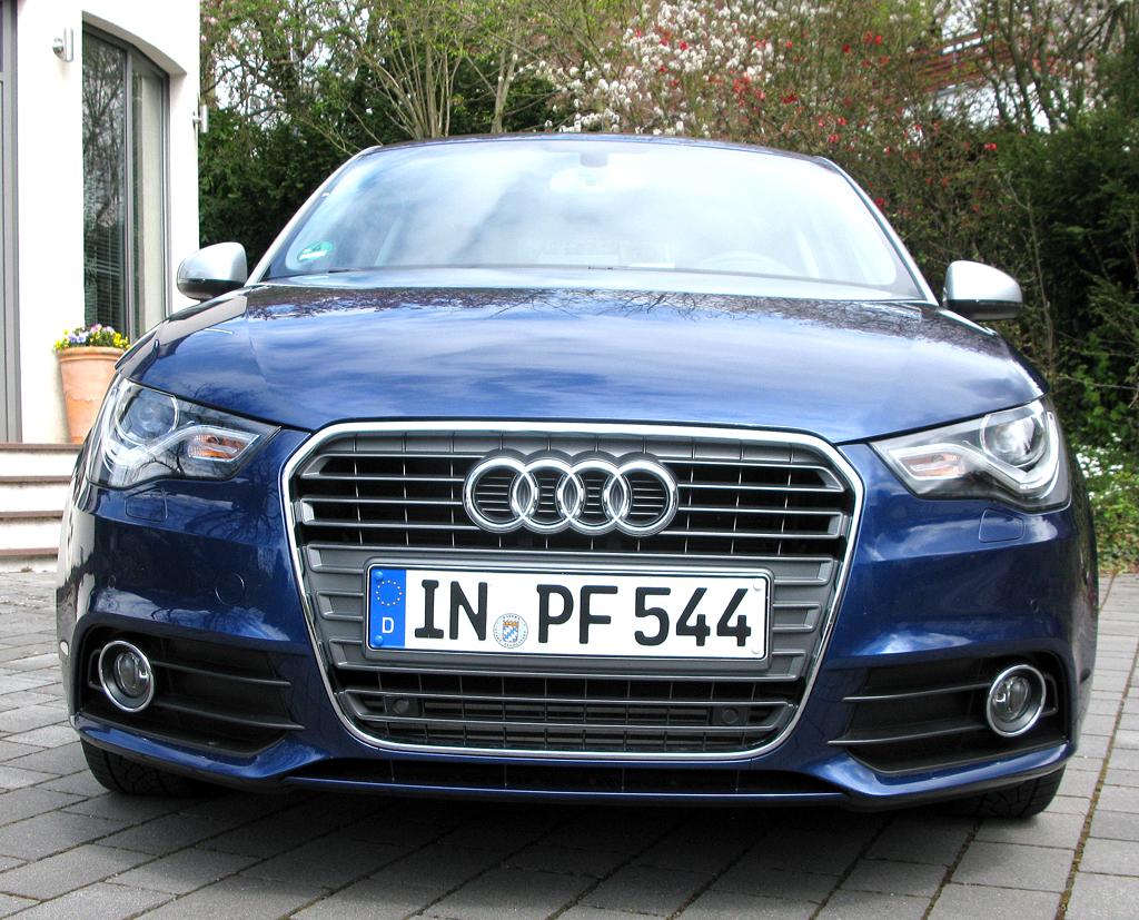 Audi A1: Blick auf die Frontpartie.