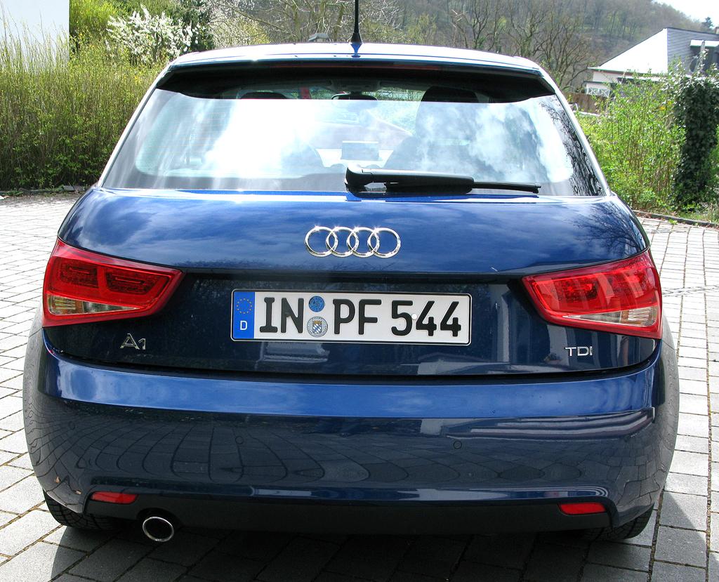 Audi A1: Blick auf die Heckaprtie.