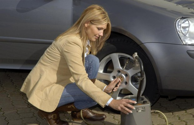 Aufpump-Assistent für Reifen - Hupen, wenn der Druck stimmt