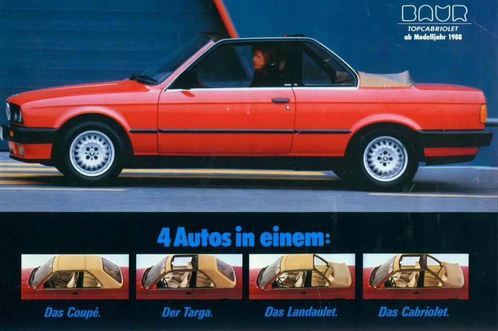 BMW 3er Baur Topcabriolet ab 1988