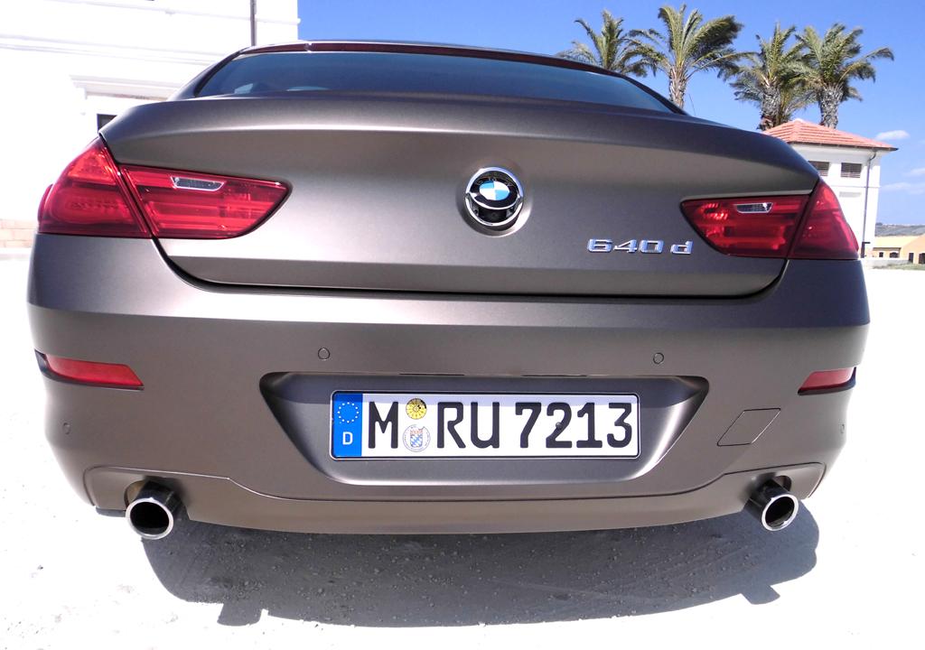 BMW 6er Gran Coupé: Blick auf die Heckpartie.