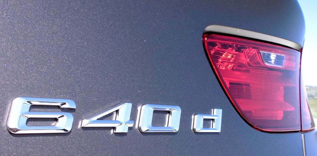 BMW 6er Gran Coupé: Motorisierungsschriftzug am Heck.