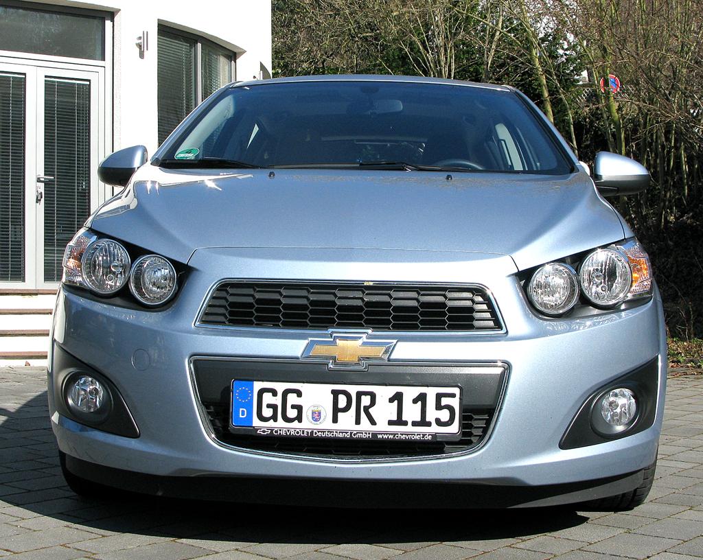 Chevrolet Aveo: Blick auf die Frontpartie des Fünfsitzers.