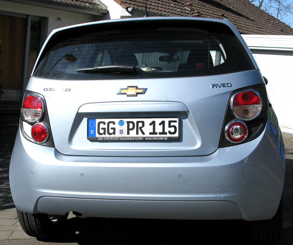 Chevrolet Aveo: Blick auf die Heckpartie des Fünftürers.