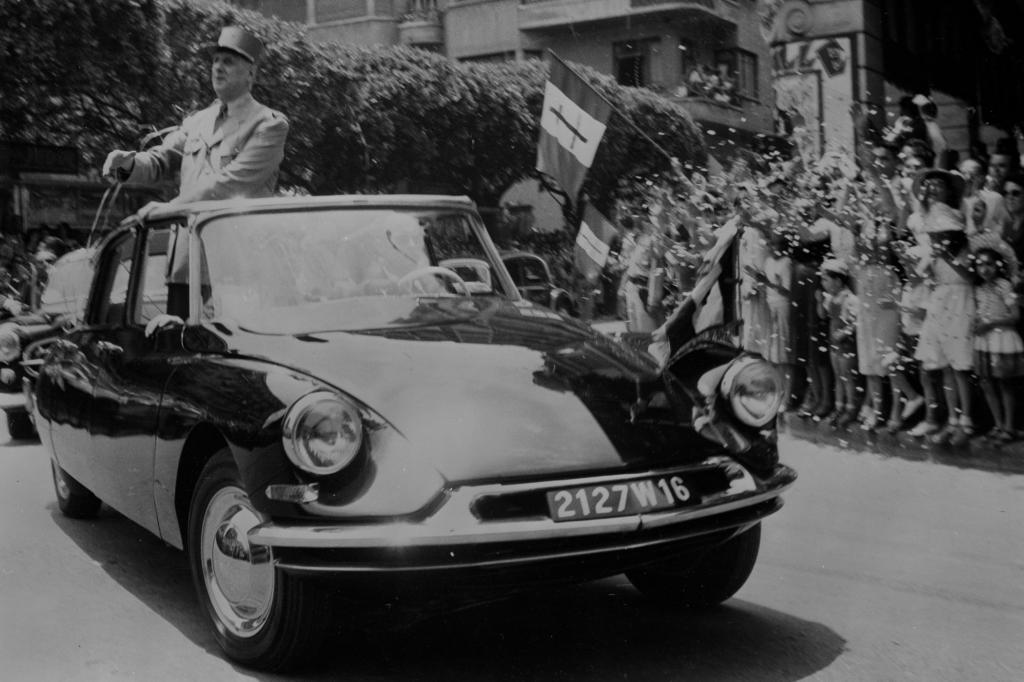 Citroen DS mit General De Gaulle in Algerien 1958