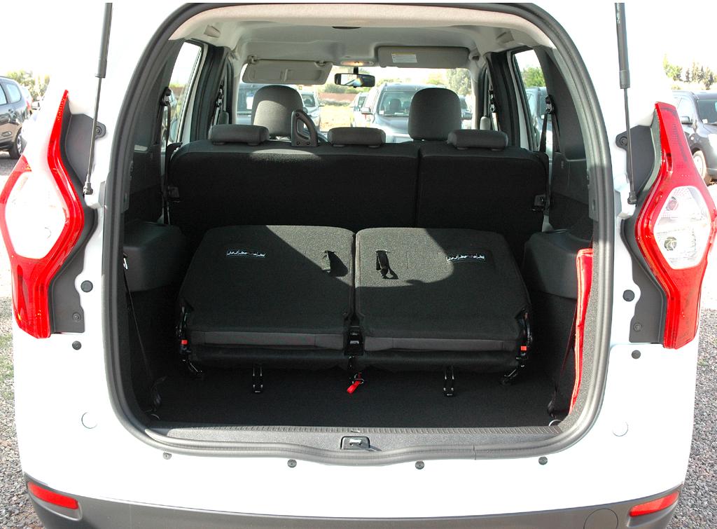 Dacia Lodgy: Ins Gepäckabteil passen 827/207 bis 2617 Liter hinein.