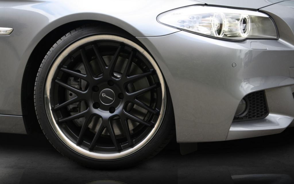 Emotion Wheels Concave: Alufelge mit hochglanz-poliertem Edelstahlbett