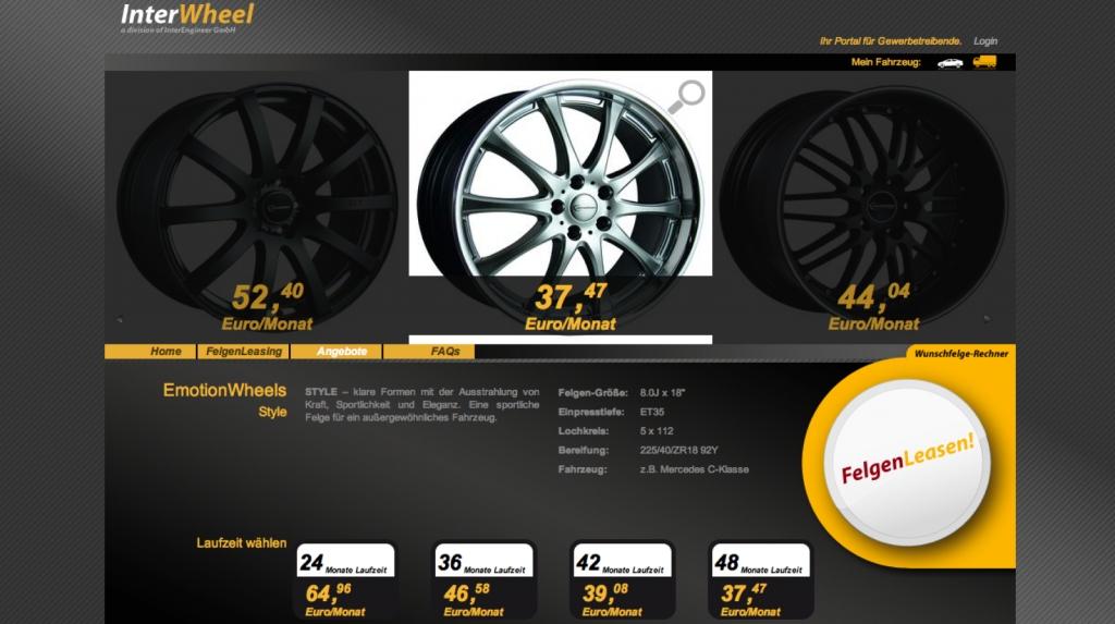 FelgenLeasen.de bietet für Gewerbetreibende das Leasing von Felgen und Kompletträdern an