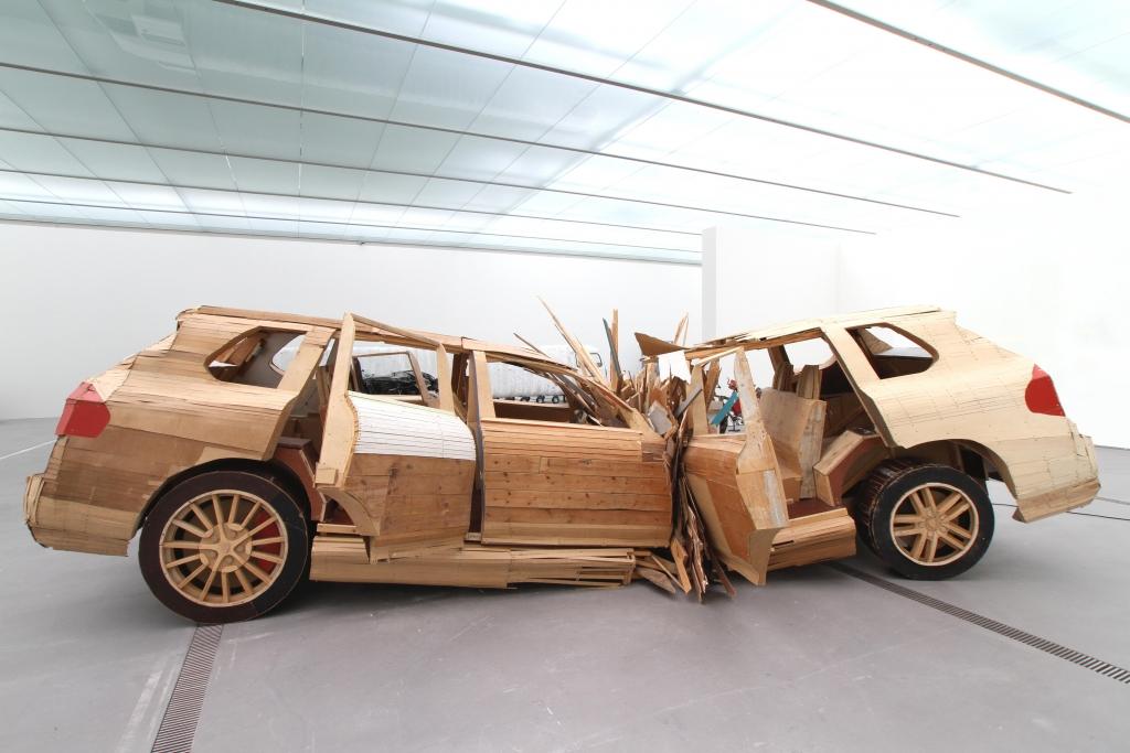 Folke Köbberling / Martin Kaltwasser Crushed Cayenne, 2008 Galerie Anselm Dreher, Berlin Foto: maschekS. © VBK, Wien 2012