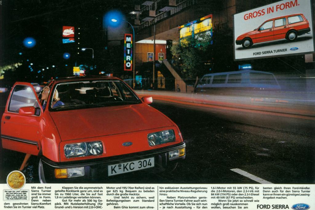 Ford Sierra Werbung 1984