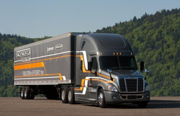 Freightliner Cascadia Evolution bis zu sieben Prozent sparsamer