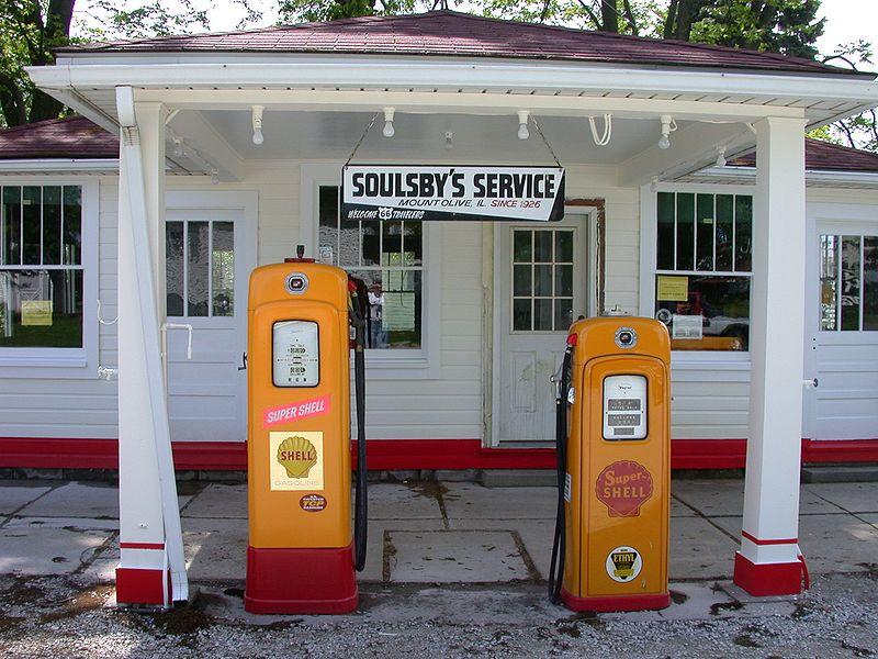 Gas Station an der Route 66 - Bild: Wikipedia