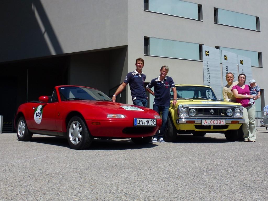 Mazda nimmt an fünf Klassik-Rallyes teil