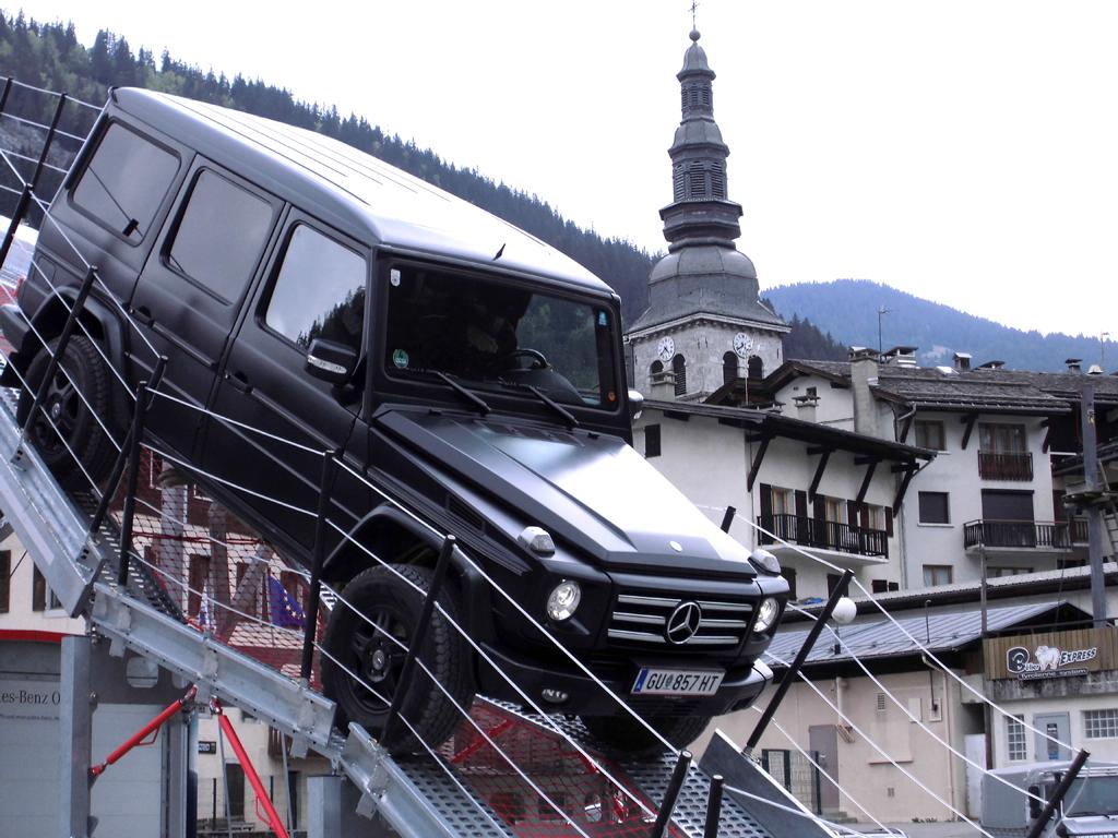 Mercedes G-Klasse: Auch steile Auf- und Abfahrten sind kein Problem.