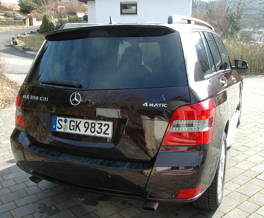 Mercedes GLK: Blick auf die Heckpartie.