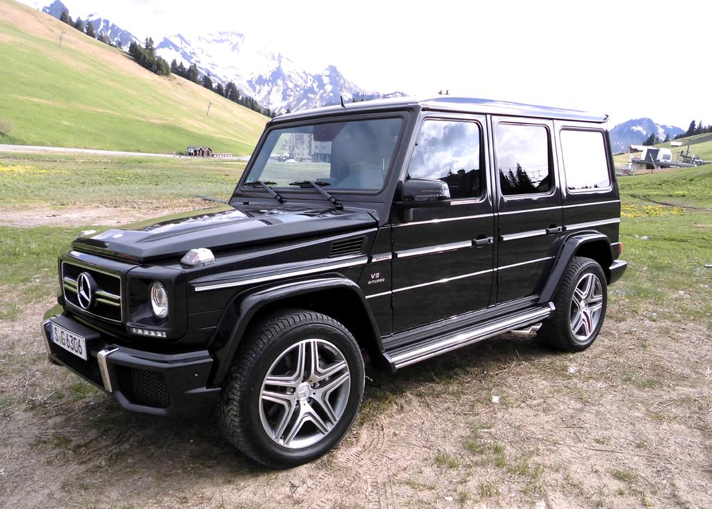 Mercedes-Geländewagen-Ikone G-Modell, hier als G63 AMG.