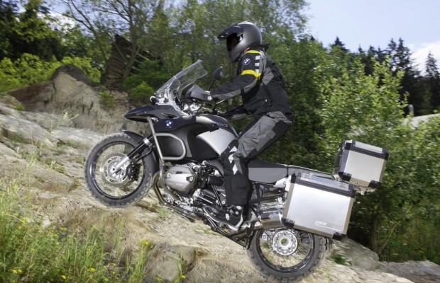 Motorrad-Landkarte - BMW im Westen, Honda im Osten