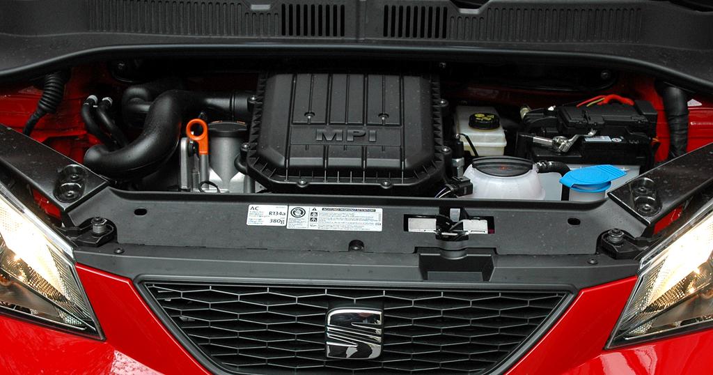 Seat Mii: Blick unter die Haube eines der beiden Dreizylinder-Benziner.