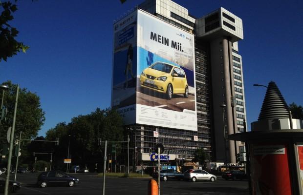 Seat Mii auf Deutschlands größtem Poster