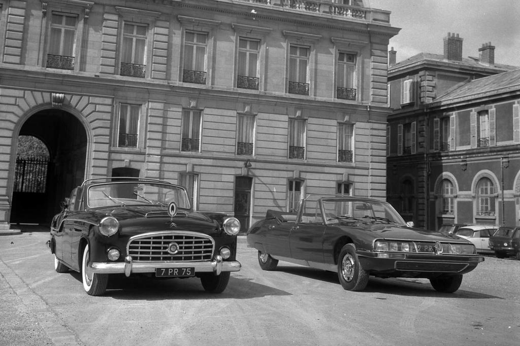 Simca Vedette 1959 und Citroen SM Presidentielle ab 1972
