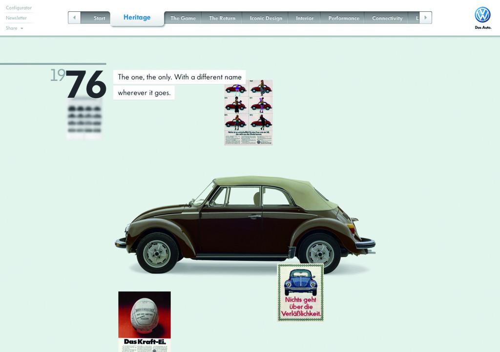 Volkswagen erhält vier Auszeichnungen für Beetle-Website