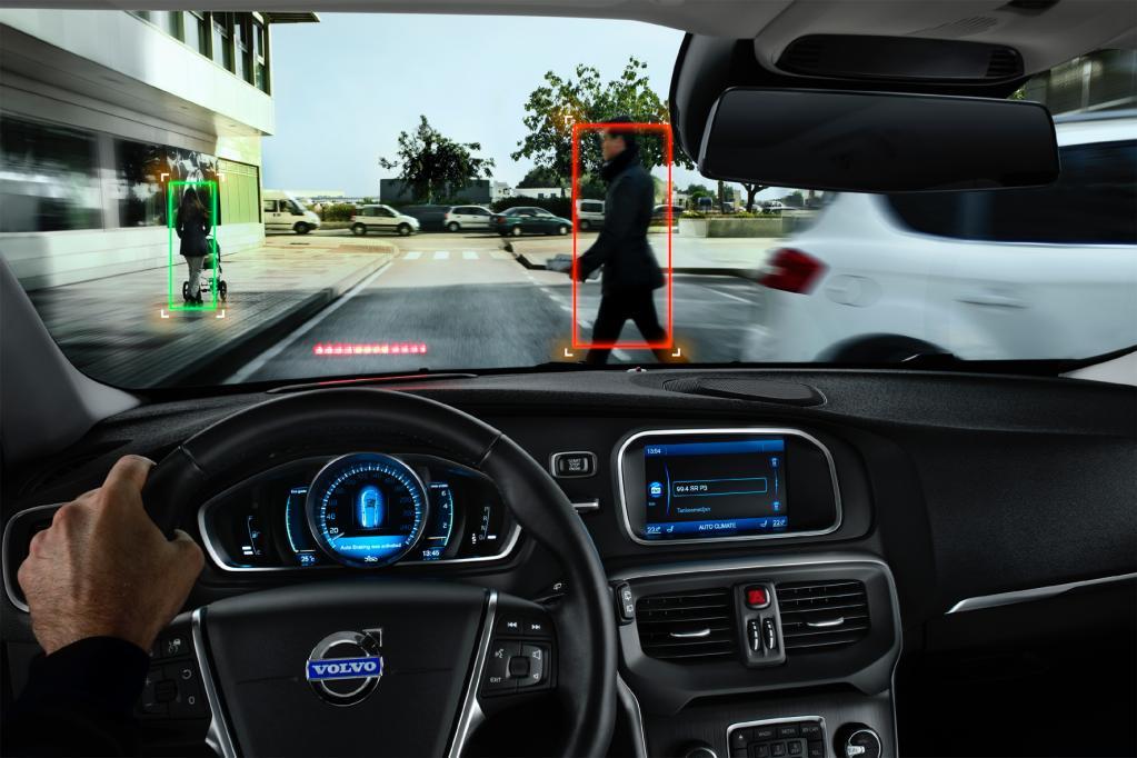 Volvo V40 in Serie mit Fußgänger-Airbag