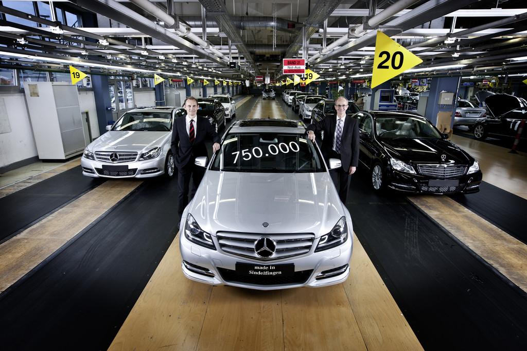 750 000ste Mercedes-Benz C-Klasse Limousine in Sindelfingen produziert
