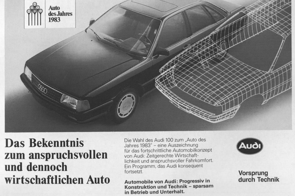 Audi 100 Auto des Jahres 1983