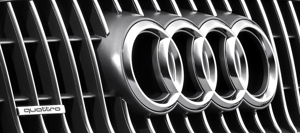 Audi A6 Allroad Quattro: Die vier Markenringe sitzen vorn im oberen Kühlergrill-Teil.
